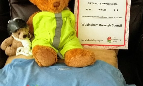 Bikeability Award with teddy bears May20.jpg